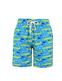 MILANKERR Big Boys'Swim Trunks with Brief Mesh Lining Quick Dry