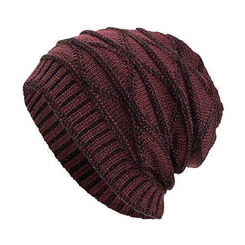 - NRUTUP Winter Hats, Unisex Warm Hat, Skull Cap, Ski Hat - Knit Hat .(Wine,Free Size)