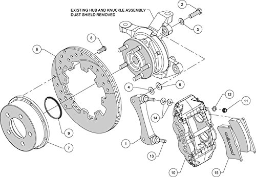 Amazon Com New Wilwood Full Front Disc Brake Kit 12 Drilled
