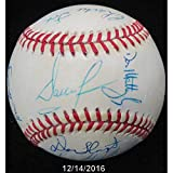 1989 Ny Yankees Team Signed Baseball 14 Autos Mattingly Green Sax Cadaret - JSA Certified - Autographed Baseballs