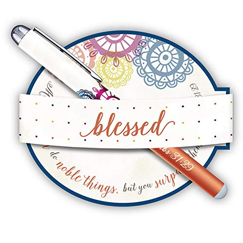 (Proverbs 31:29 Blessed and Noble Women Pen and Notepad Gift Set, 5 1/2 Inches )