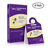 Trapro Clothes Moth Traps Pheromone Moth Traps Sticky Moth Killer for Clothes and Carpet Moth (6 Pack)
