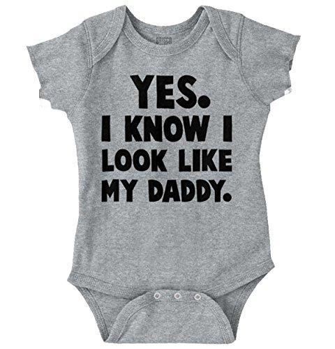 Brisco Brands Look Like Daddy Cute Baby Clothes Idea Newborn Edgy Romper Bodysuit -