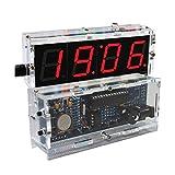 KKmoon 4-digit DIY Digital LED Clock Kit Light Control Temperature Display Transparent Case Red (Red)