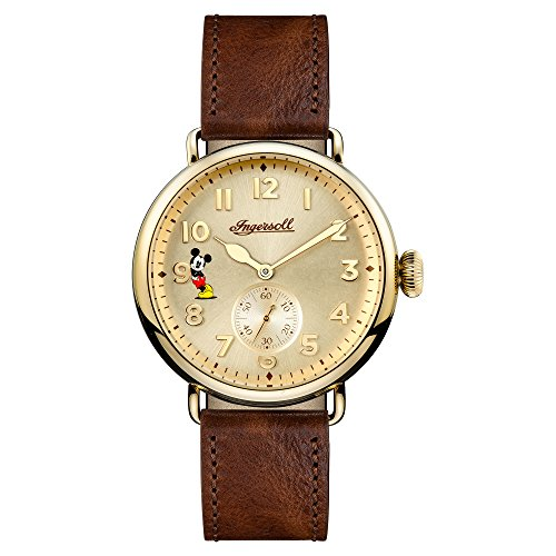 Ingersoll Men's Quartz Stainless Steel and Leather Casual Watch, Color:Brown (Model: ID01201)