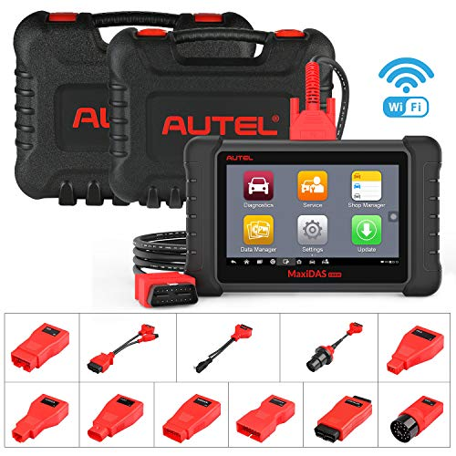 Autel MaxiDAS DS808K Automotive Scan Tool Car Diagnostic Scanner with OE-Level All Systems Diagnosis 22 Services IMMO Keys, Bi-Directional Control, Oil Reset EPB SAS BMS TPMS Relearn DPF Regeneration