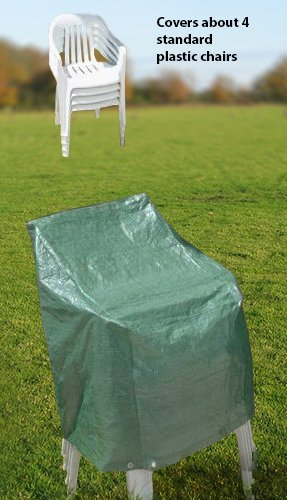 Outdoor Patio Chair Cover - Cover 4 Standard Plastic Chairs by CT STORE