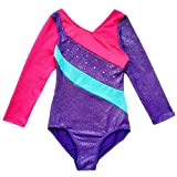 Happy Cherry Children Girl's One-Piece Leotards Sparkly Athletic Dance Unitards