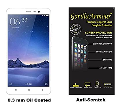 Gorilla Armour Tempered Glass for Mi Note 4 | 0.3 mm Thin | Chemically Strong Gorilla Armour Glass for Redmi Note 4