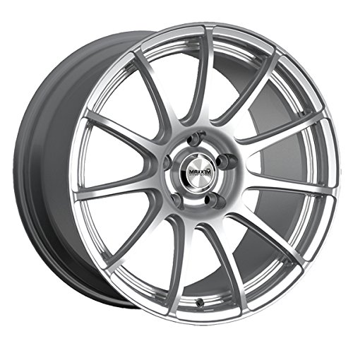 15x6.5//4x100mm Maxxim Maze Silver Wheel with Machined Face