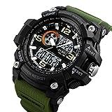 Skmei Analogue-Digital Black Dial Men's & Boy's Watch(Skm-1283-Green)