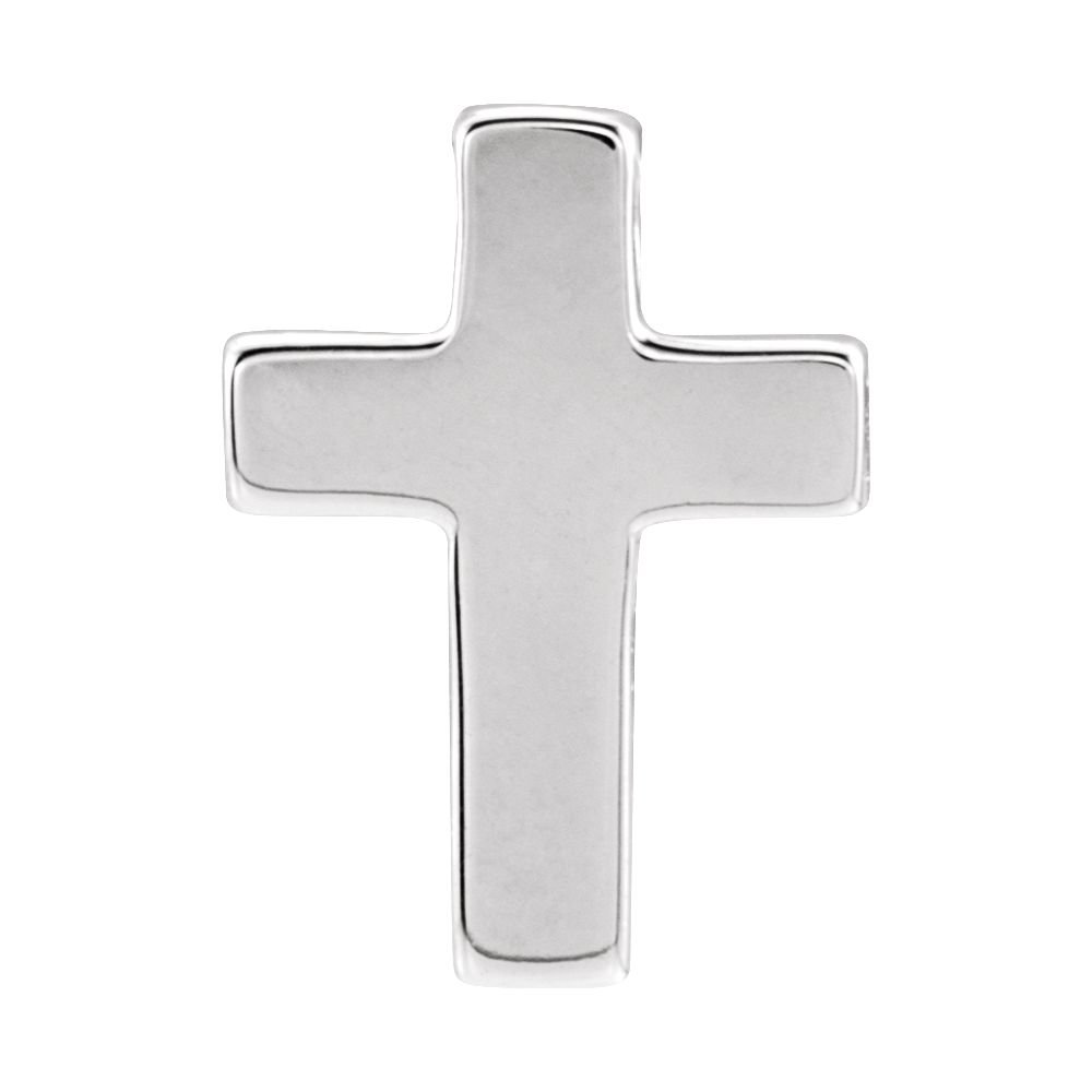 DiamondJewelryNY Sterling Silver Petite Cross Pendant