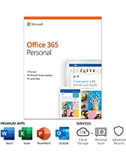 Microsoft Office 365 Personal | 12-month subscription, 1 person PC/Mac Key Card, English