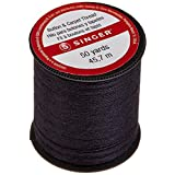 Singer Button and Carpet Thread, 50 Yards, Black