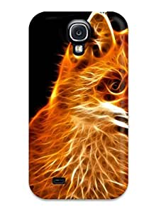 MichaelTH Premium Protective Hard Case For Galaxy S4- Nice Design - Abstract Fractalius