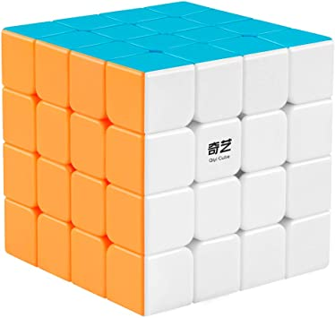 QiYi Qiyuan 4x4x4 Bright Magic Speed Cube Puzzle Game Intelligence Brain Teasers
