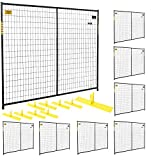 Jewett-Cameron 8-Panel Perimeter Patrol Kit — Temporary Fencing Panels, Each 7 1/2ft. x 6ft., Model# RF 10005 - 8