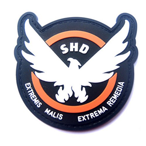 KingNew Game Patches Rubber The Division SHD Wings Out Badge Morale PVC Airsoft Patch ()