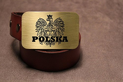 Polish Flag POLAND POLSKA Etched Metal Belt Buckle