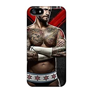 Fashion Tpu Case For Iphone 5/5s- Wwe Cm Punk Defender Case Cover