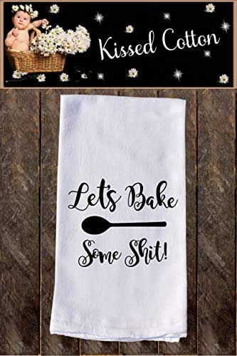 Amazon.com: Let's Bake Some Shit! Funny Dish Towels, Funny