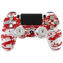 """""""Blood Splatter Extreme"""" PS4 Custom Modded Controller w/ 9mm Bullet Buttons & Shotgun Thumbsticks"""