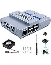 ETEPON Raspberry Pi 3 B + Tasche, SNES Spielkonsole Schutzhülle mit Lüfter, Schraubenziehergehäuse und Kühlkörper für Raspberry Pi 2B 3B 3B +