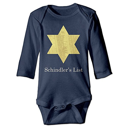 Boss-Seller Schindler's List Long-Sleeve Romper Outfits For 6-24 Months Boys & Girls Size 6 M Navy