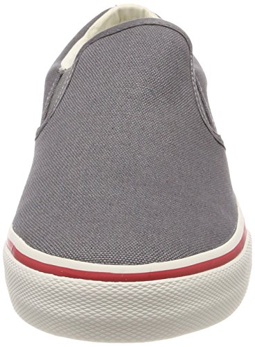 Hilfiger Denim Herren Tommy Jeans Textile Slip on Sneaker Grau (Steel Grey 039)