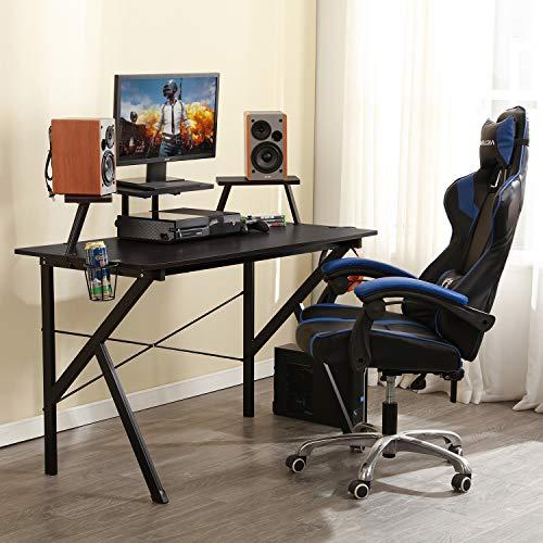 "DlandHome Gaming 47"" Gaming Table/Workstation Display & Speaker Stand Headphone YX001-BB Pack"