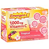 Emergen-C (30 Count, Tropical Flavor, 1 Month Supply) Dietary Supplement Fizzy Drink Mix with 1000mg Vitamin C, 0.32 Ounce Packets, Caffeine Free Review