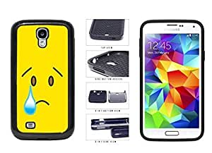 Bright Yellow Sad with Tear Face 2-Piece Dual Layer Phone Case Back Cover Samsung Galaxy S4 I9500