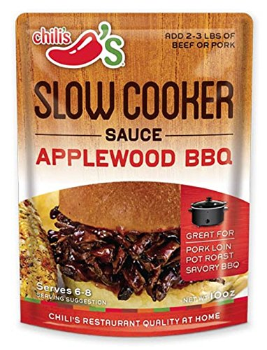 Chili's, Slow Cooker Sauce, Applewood BBQ, 10 Ounce Pouch (Pack of 3)