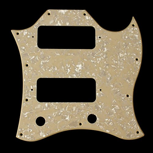 Gibson Sg Faded - (E94) SG Classic Guitar Pickguard With P-90 Pickups Layout ,1Ply Cream Pearl