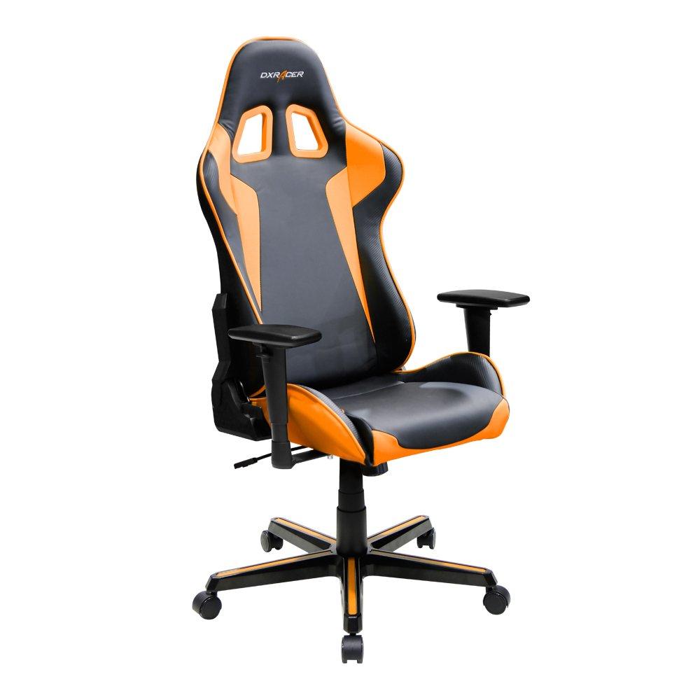 DX Racer - Silla ergonómica par computadora, negra/naranja, FE00/NO/ZERO: Amazon.es: Hogar
