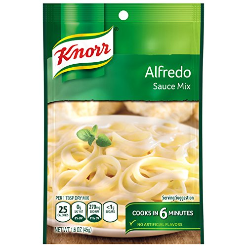 Recipe Alfredo Sauces - Knorr Pasta Sauce Mix Pasta Sauce Mix, Alfredo 1.6 oz (Pack of 12)