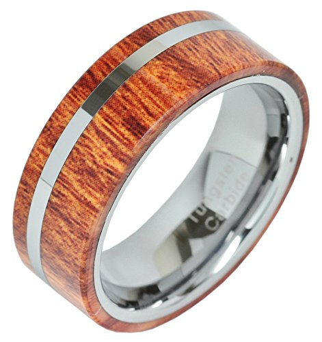 Tungsten Inlay Titanium Comfort Wedding