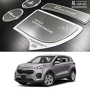 Patr/ón de aluminio bloque de dos taza soporte consola placa accesorios 2ea 1set para Kia Niro 2017/2018