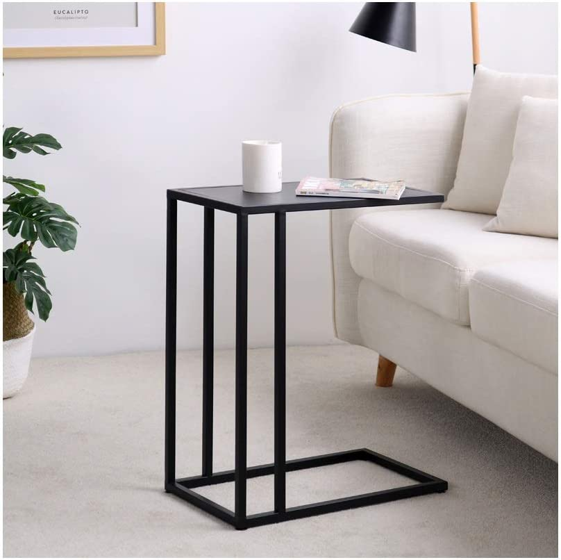 Cool Winkelen Hedendaagse Salontafel Simple Metal C-vorm Kleine Salontafel Mini Bank Side Tables Huishoudelijk Kantoor Creative Furniture Black 4.13 (Color : Black) Black jBeme0E