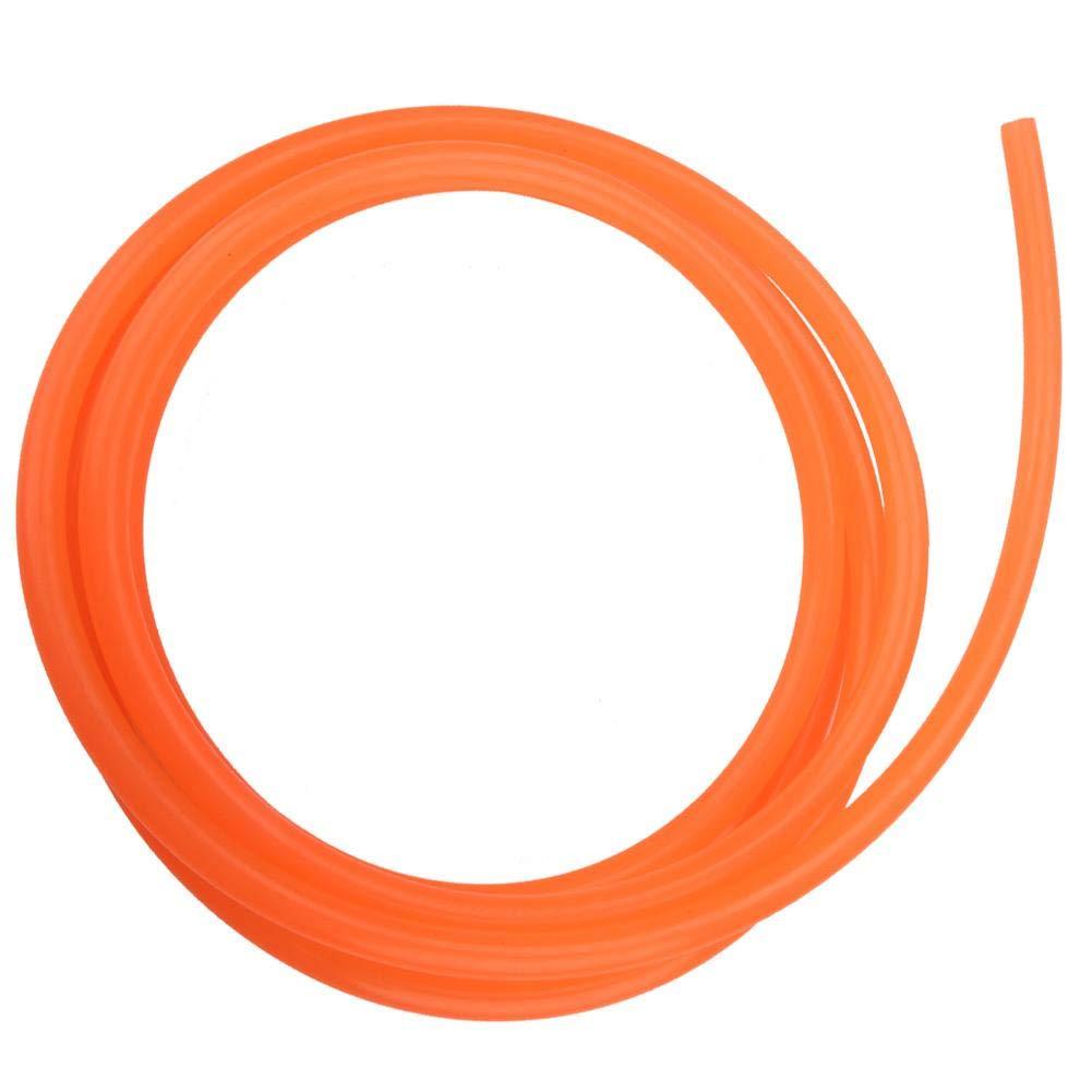 Akozon Ceinture Ronde en Polyur/éthane Courroie de Transmission en Polyur/éthane PU lisse orange pour transmission 5mm*10m
