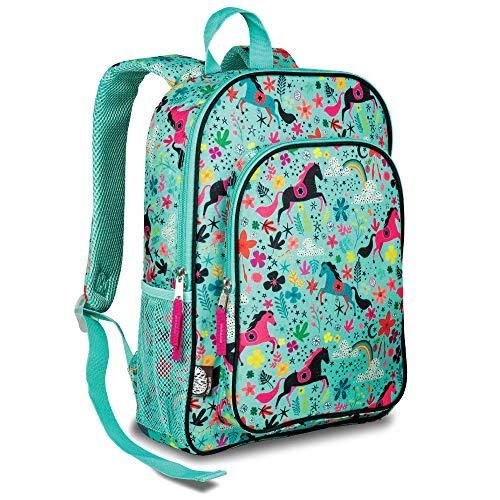 LONECONE Kids' Preschool and Kindergarten Backpack for Boys and Girls, Moroccan Horses