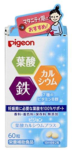 Pigeon Supplement Folic Acid Calcium Plus 60tablets