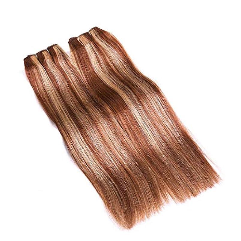 ぴかぴか興奮する冷笑するJIANFU 髪カーテン レアルヘア ストレートヘア ミックスカラー ウィッグカーテン レディース ノットなし 染める可能 (サイズ : 18inch)