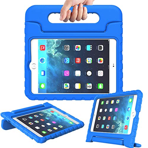 AVAWO Kids Case for iPad Mini 4 - Light Weight Shock Proof Convertible Handle Stand Kids Friendly for iPad Mini 4 7.9-Inch Tablet, Blue