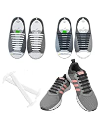 No Tie Shoe Laces for Kids and Adults - BKSTONE Flat Elastic ShoeLaces