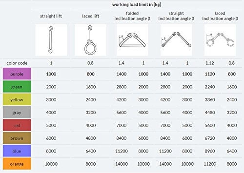 3 m Rundschlinge 3000 kg Hebeschlinge Hebeband Hebegurt Hebeb/änder 3 T 1 St/ück