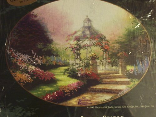 Thomas Kinkade Hidden Gazebo Embellished Cross Stitch Kit 1999 - Hidden Gazebo