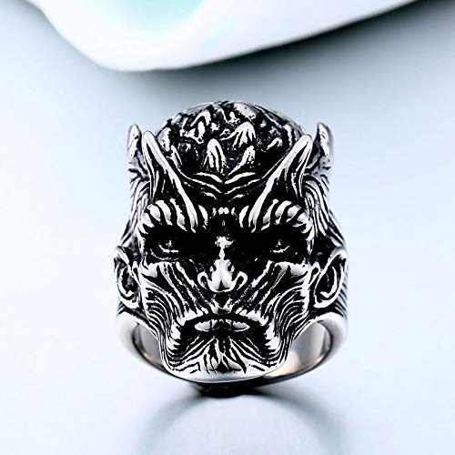 GOT of Nights King Gothic Ring for Men ZMY Mens Punk Jewelry Stainless Steel Rings