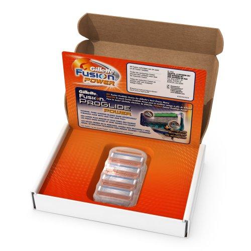 Body Power Refill (Gillette Fusion Power Men's Razor Blade Refills, 4 Count, Mens Razors / Blades)