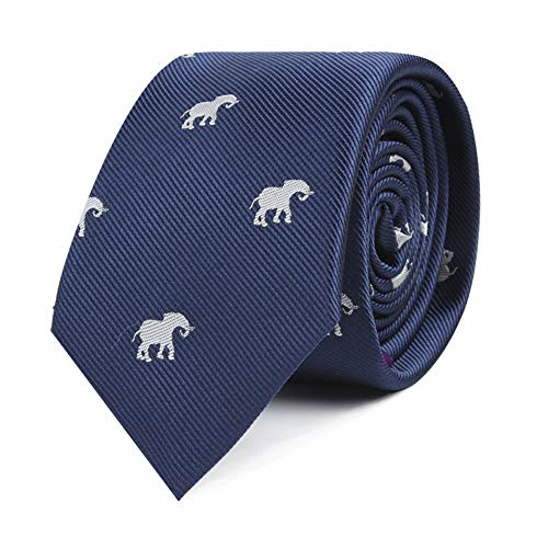 (Elephant Tie for Him | Elephant Gift for Him | Animal Lover | Work Ties for Him | Birthday Gift for Guys (Elephant))